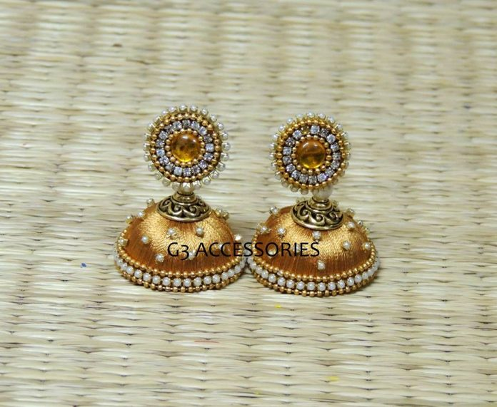 Best Hand-made Silk Thread Jhumkas Earring Designs for engagements