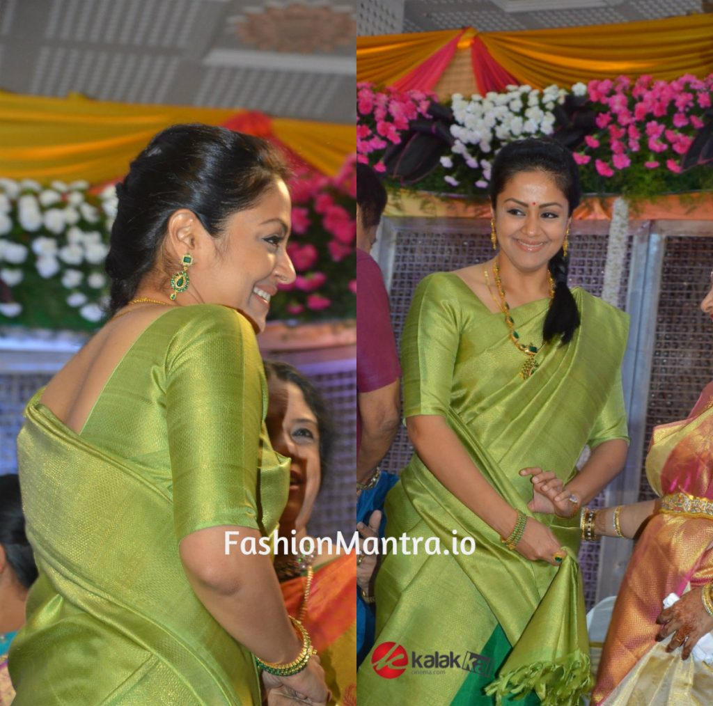 Jyothika In Half And Half Silk Saree