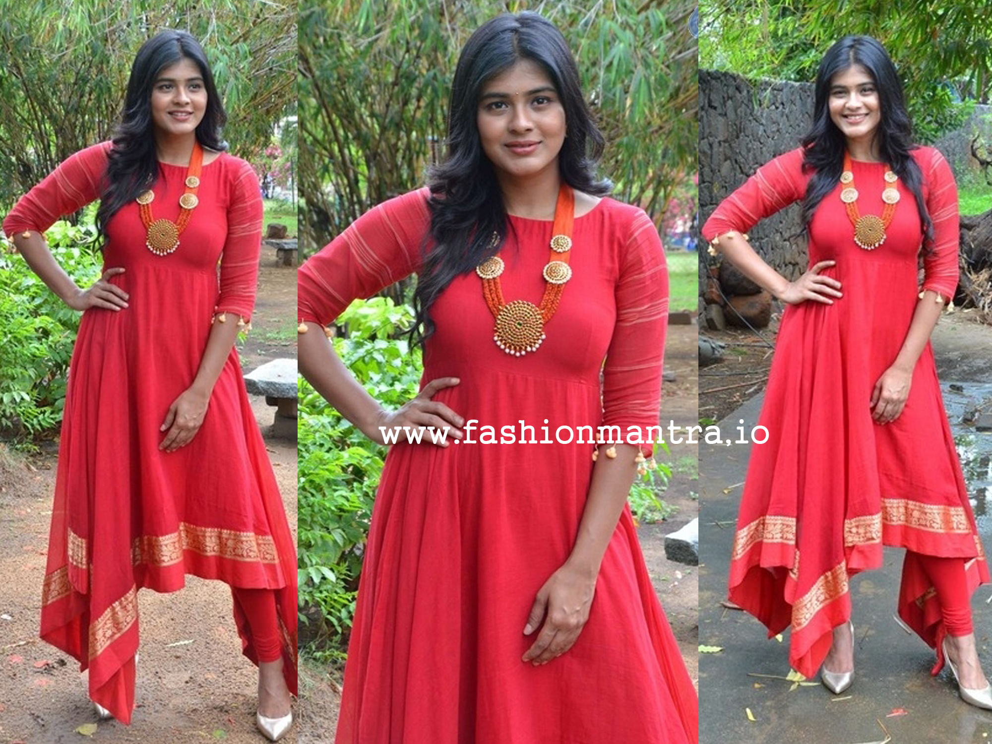 hebah patel in Red