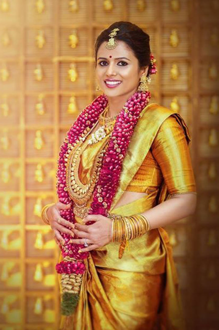 South indian bridal makeup golden bride for Best online photo gallery