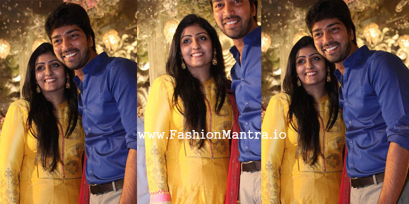 allari naresh wife at Ntv Narendra Chawdary Daughter Engagement photo