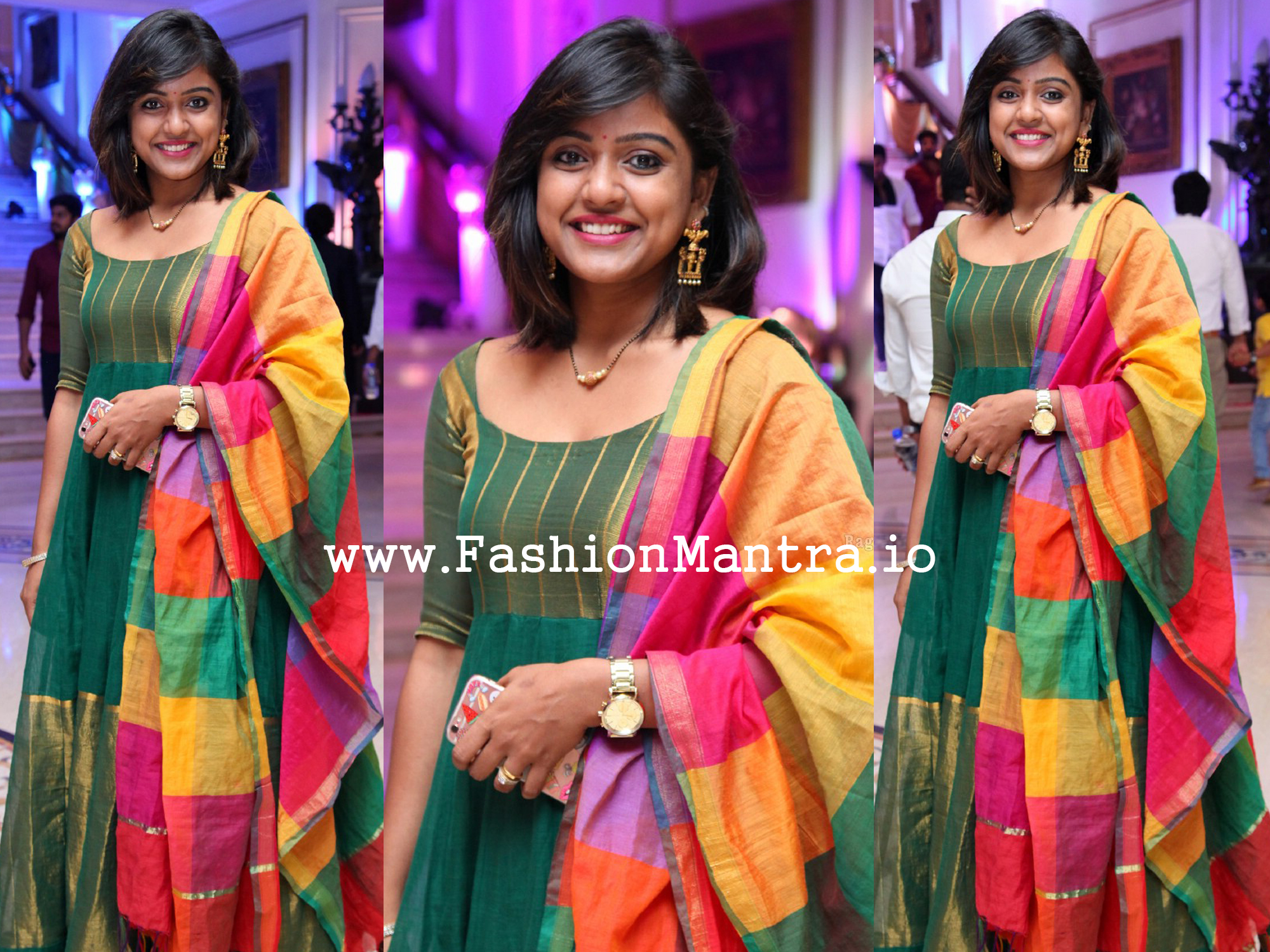 vithika sheru in a green anarkali photo