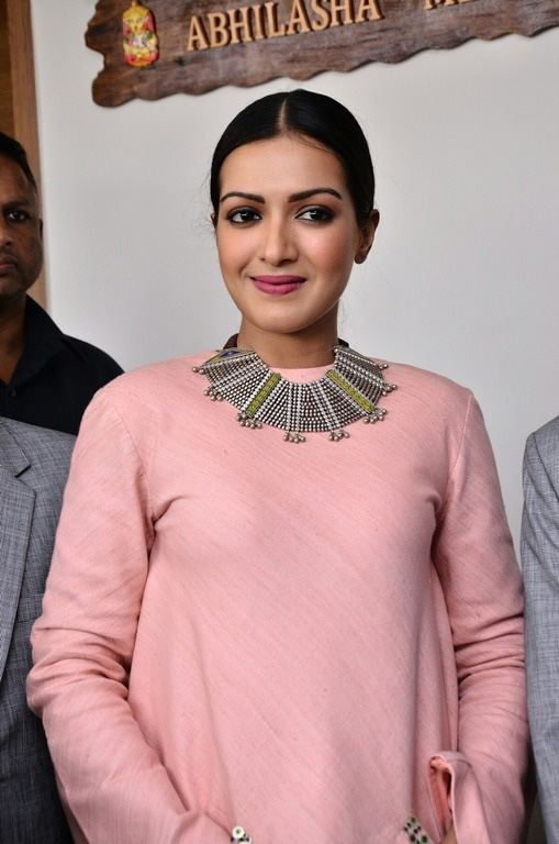 Catherine Tresa in Pink Frock