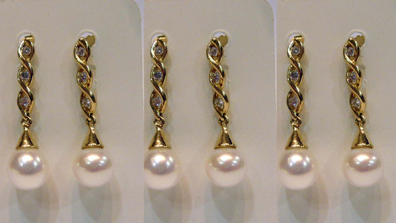 Stylish Pearls Long Earring Designs