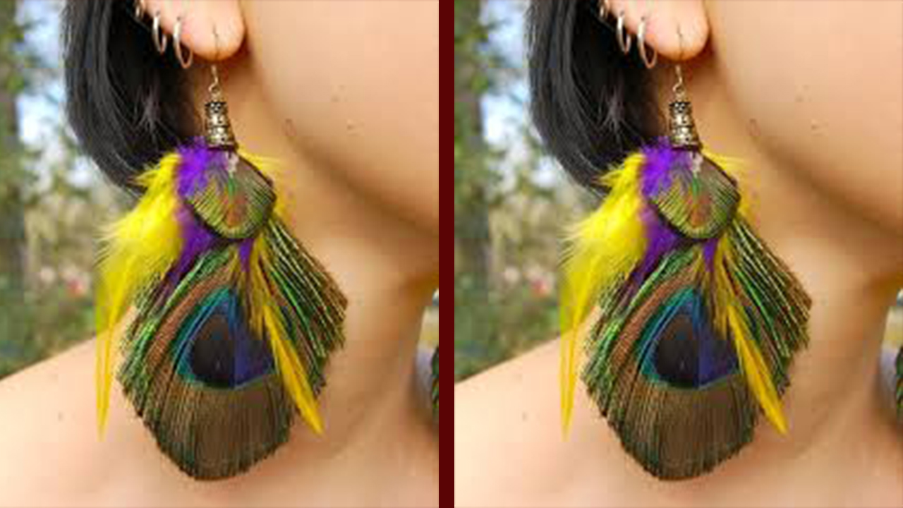 Best Peacock Feather Earring Designs