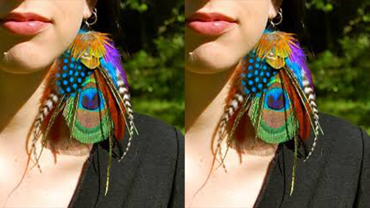 Peacock Feather Earring Designs