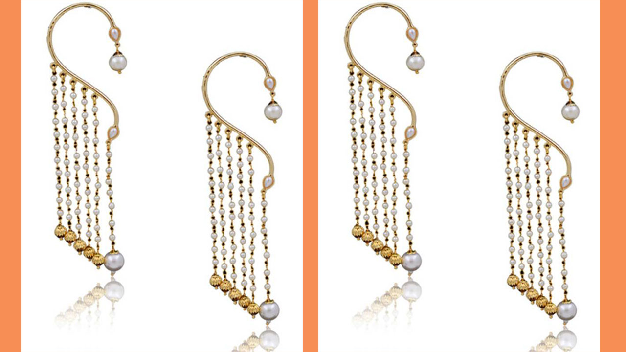 Stylish Pearls Earring Designs