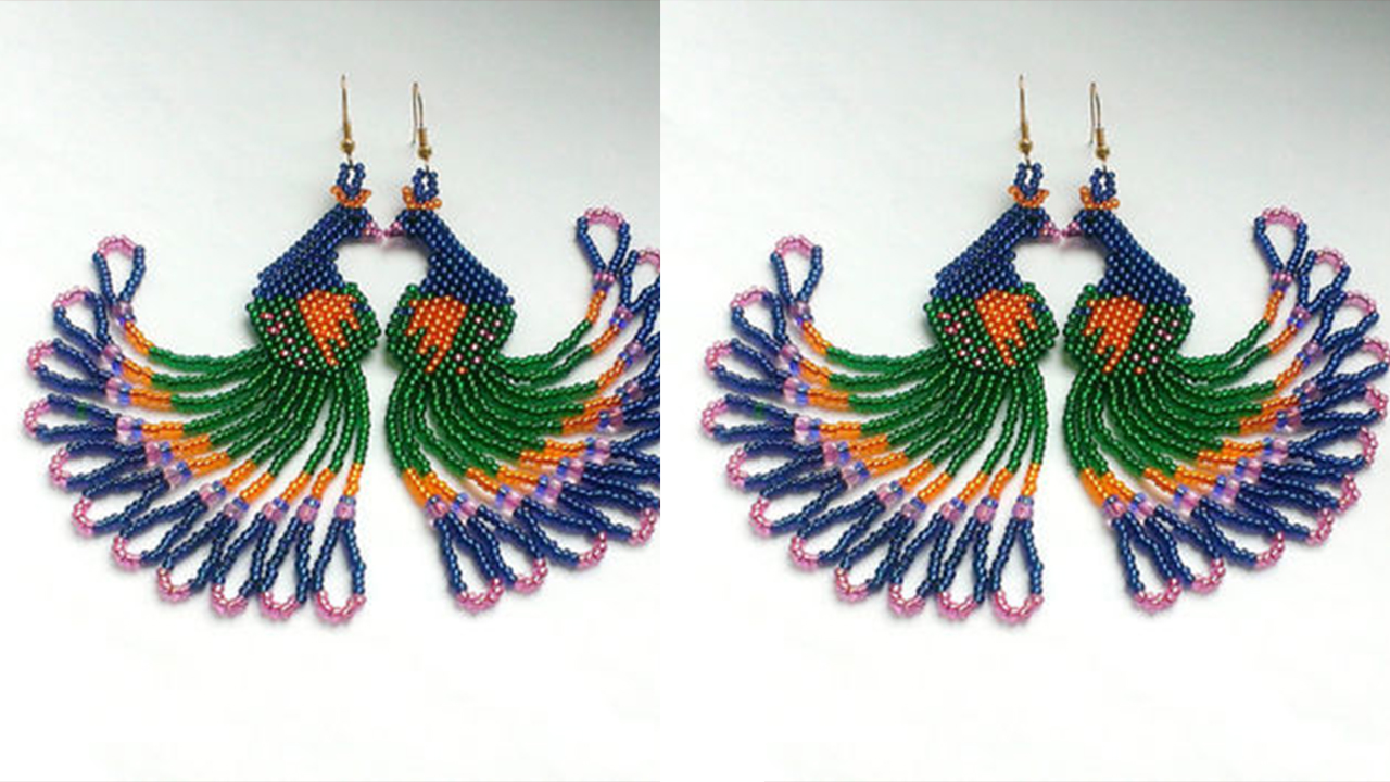 Stylish Peacock Feather Earring Designs