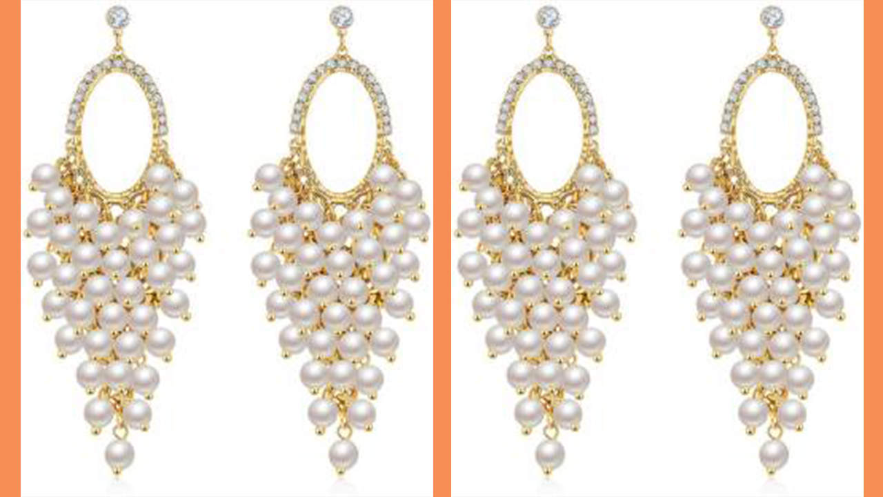 Pearls Long Earring Designs