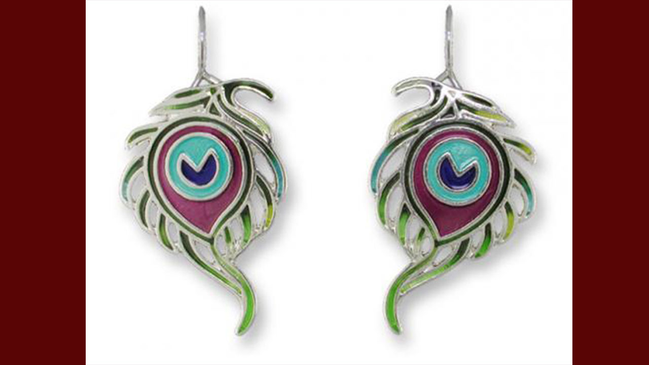 Top Peacock Feather Earring Designs