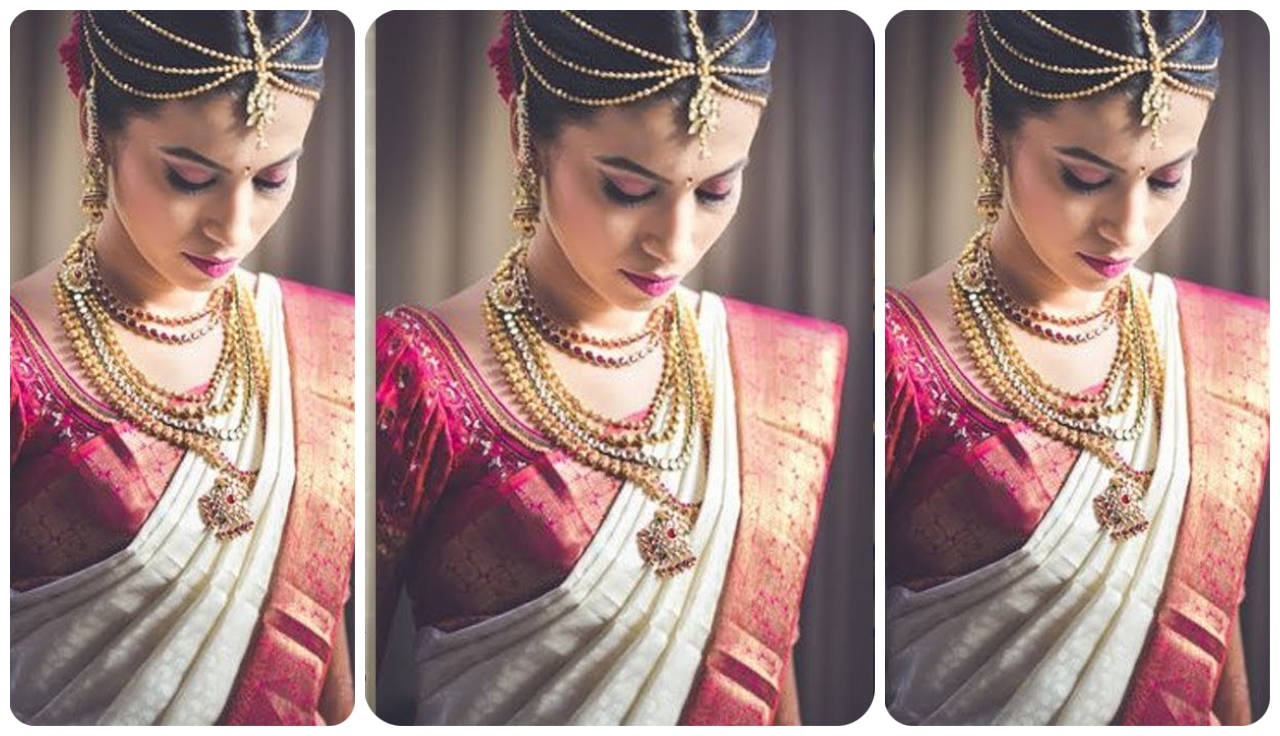 White And Pink Combination Pattu Sarees