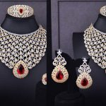 White Stones Necklaces | Latest White Stones Necklace Designs
