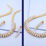 Latest White Stones Necklace Designs