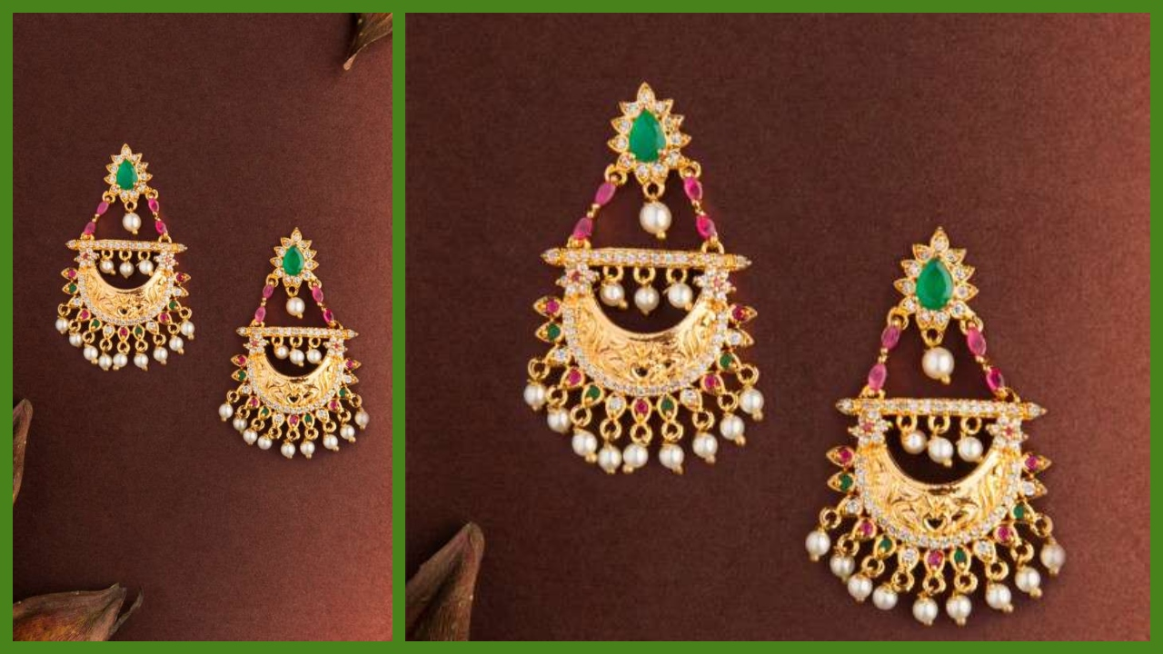 Chandbali Jewellery Designs | Chandbali Earrings