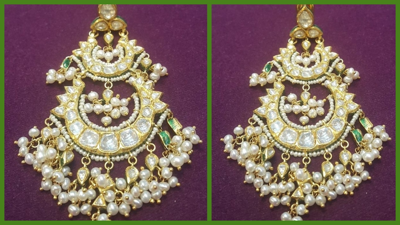 Pearl Chandbali | Latest Pearl Chandbali
