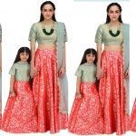 Latest Mother And Daughter Same Dresses