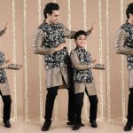 Stylish Father And Son In Ethnic Wear