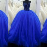 Stylish Blue Color Long Netted Frocks