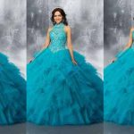 Best Blue Color Long Netted Frocks