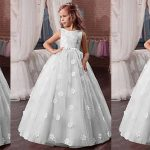 Stylish Children Netted Long Frocks