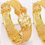 Traditional Golden Jali Bangles
