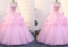 Pink Color Long Netted Frocks   Latest Pink Color Long Netted Frocks