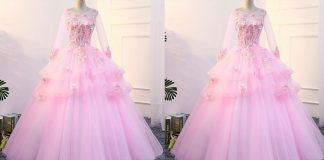Pink Color Long Netted Frocks | Latest Pink Color Long Netted Frocks